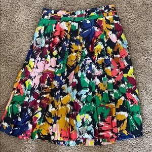 J Crew colorful Maxi Skirt